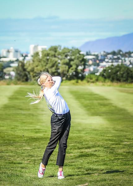 GR, Perla Sól Sigurbrandsdóttir. Íslandsmót í golfi 2019 - Grafarholt 2. keppnisdagur Mynd: seth@golf.is