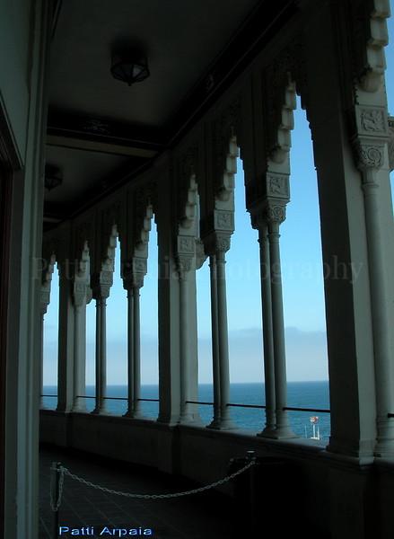 Catalina Island.  The Casino balcony