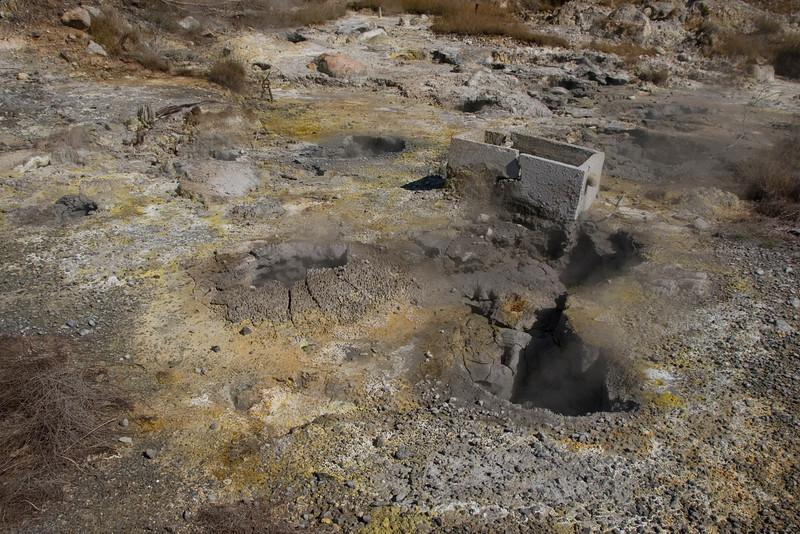 Close look at sulfur soil in Kagoshima, Japan
