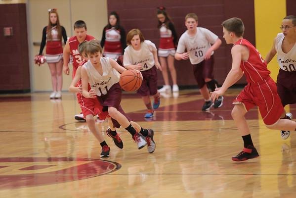 7th Grade vs Badger 1-21-15
