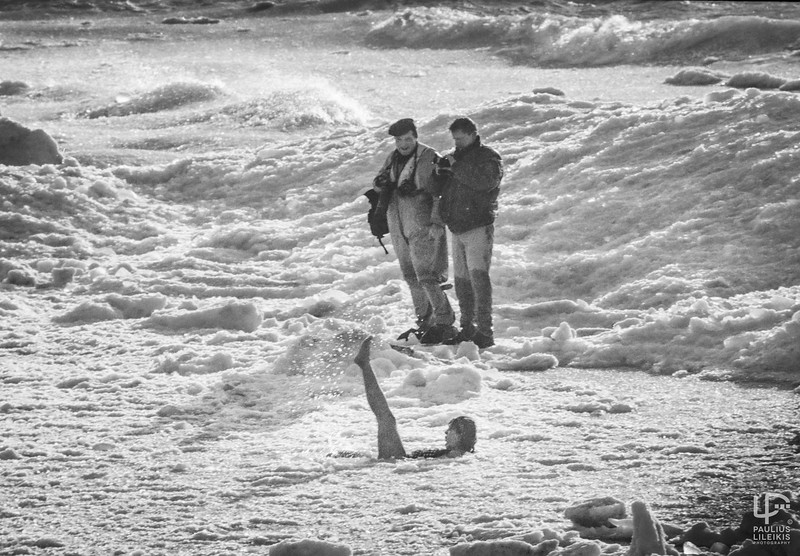 Fotografai Kęstutis Vanagas ir Vladas Ščiavinskas Palangoje...