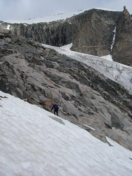 ... towards our visible goal: Gannett Peak.
