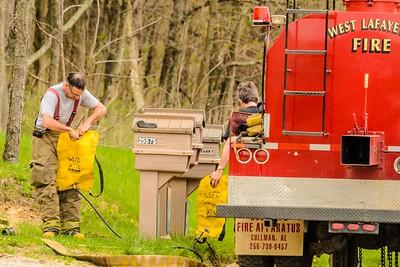 04-19-15 West Lafayette FD Grass Fire