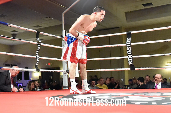 Bout 6 Antonio Nieves, Lorain, OH, Red, White & Blue Trunks -vs- Tabor Nadori, Hungary, Black Trunks, Bantamweights