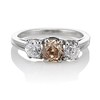1.47ctw Fancy Brown Old Mine Cut and Old European Cut Diamond 3-Stone Ring 0