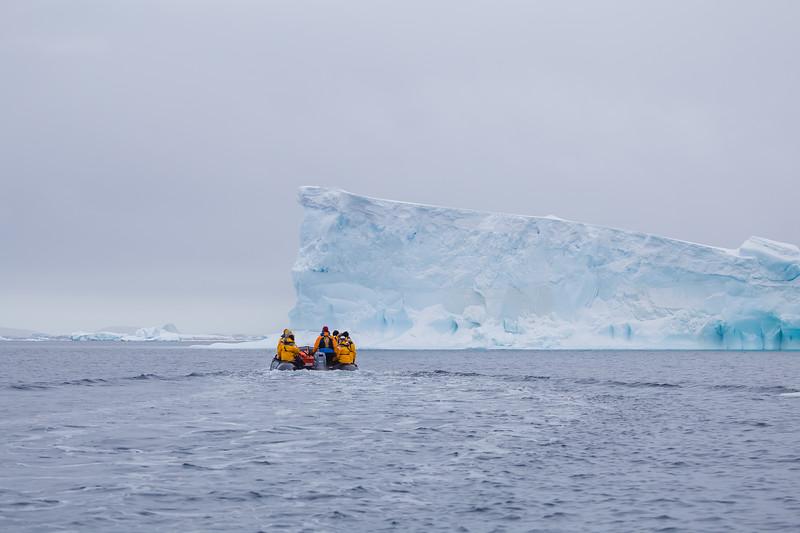 Zodiac cruise off Antarctic Peninsula
