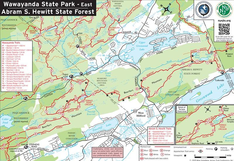 Wawayanda State Park (Trail Map - East)