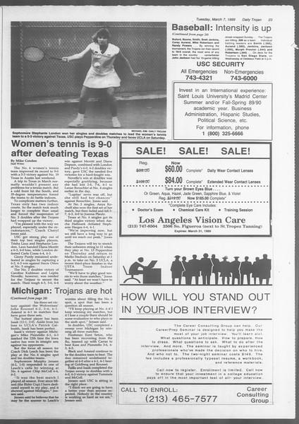 Daily Trojan, Vol. 108, No. 36, March 07, 1989