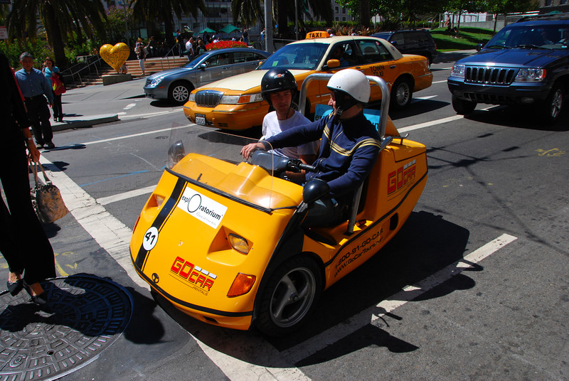 A Go-Car.  They rent these things all over SF.  They look as dangerous as they do fun!