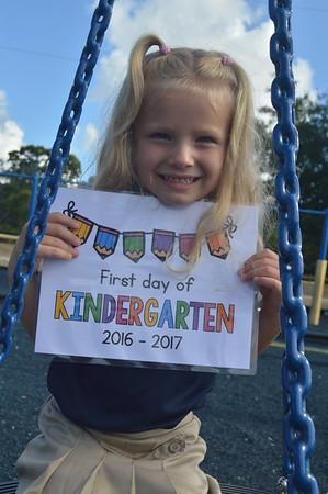 First Day of Kindergarten 2016