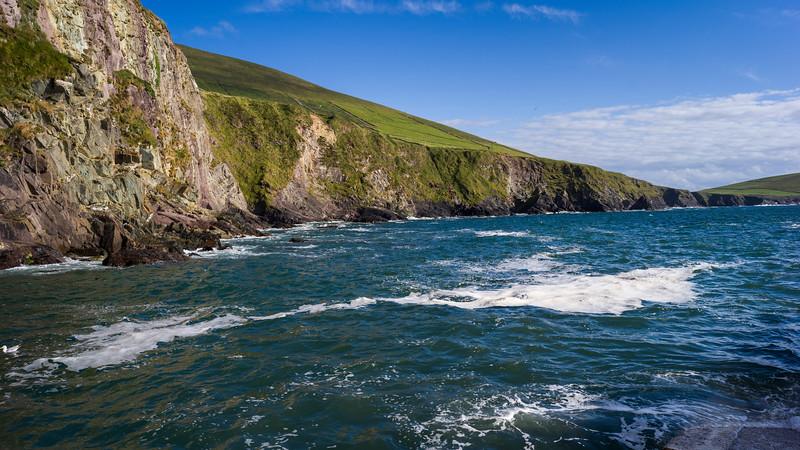 Scenic view of Atlantic Coast, Ballyferriter, County Kerry, Ireland
