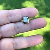 4.57ct Fancy Dark Greenish Yellow Brown Asscher Cut Diamond GIA 18