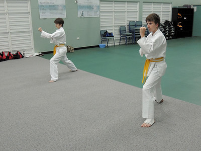 Combat Karate Intermediate Grade Belt Assessment 26th November 2012 Brothers Thomas & Jeremy