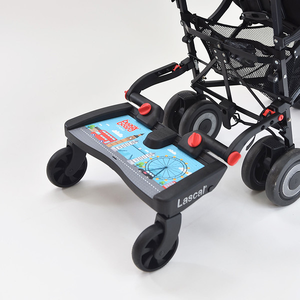 Lascal_Buggyboard_Maxi_London_Skyline_Product_Shot_Side_Angle_On_Pushchair_Cropped.jpg