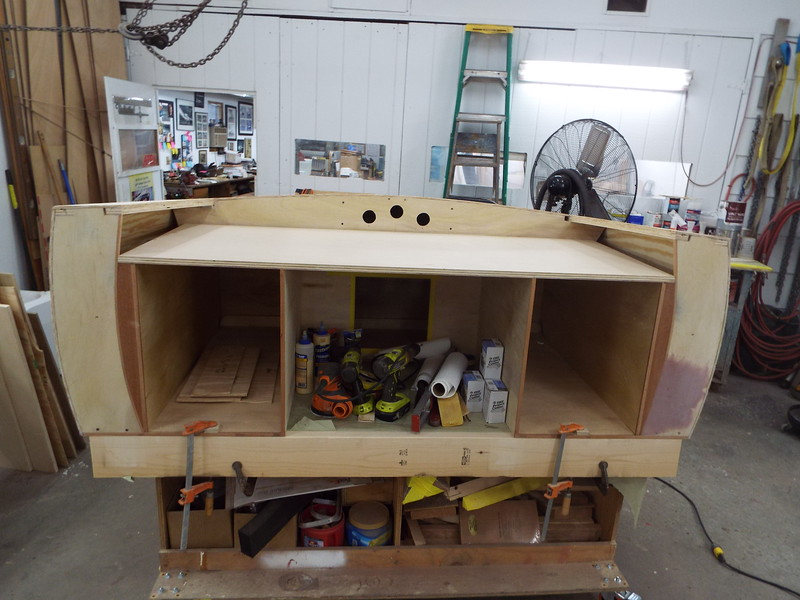 Desk ready for the drawers to be fit and then the Mahogany skin.
