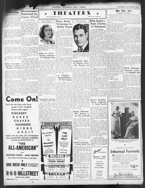 Daily Trojan, Vol. 24, No. 20, October 06, 1932