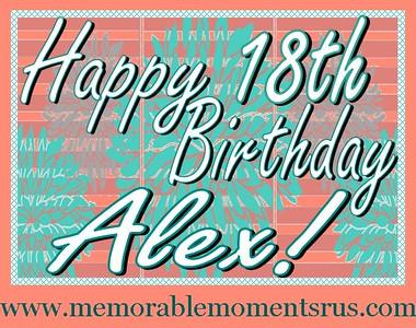 Alex's 18th Birthday