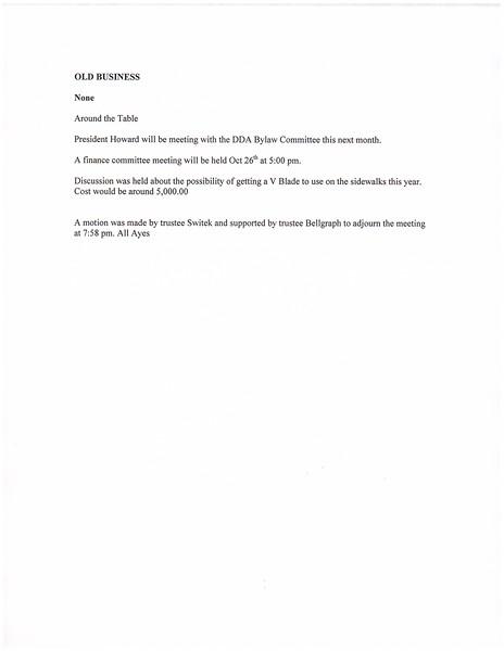 October 2015 Meeting Minutes