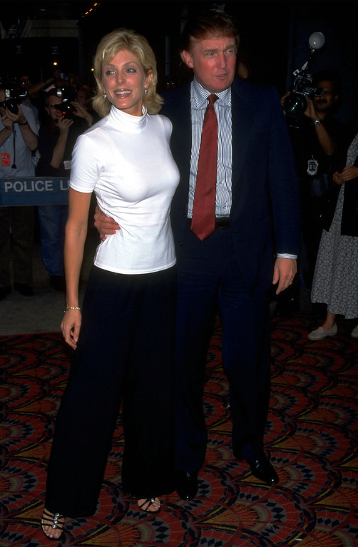 . UNDATED FILE PHOTO: Donald Trump and Marla Maples. (Photo by Diane Freed)