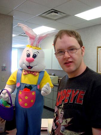 Aaron meets the bunny