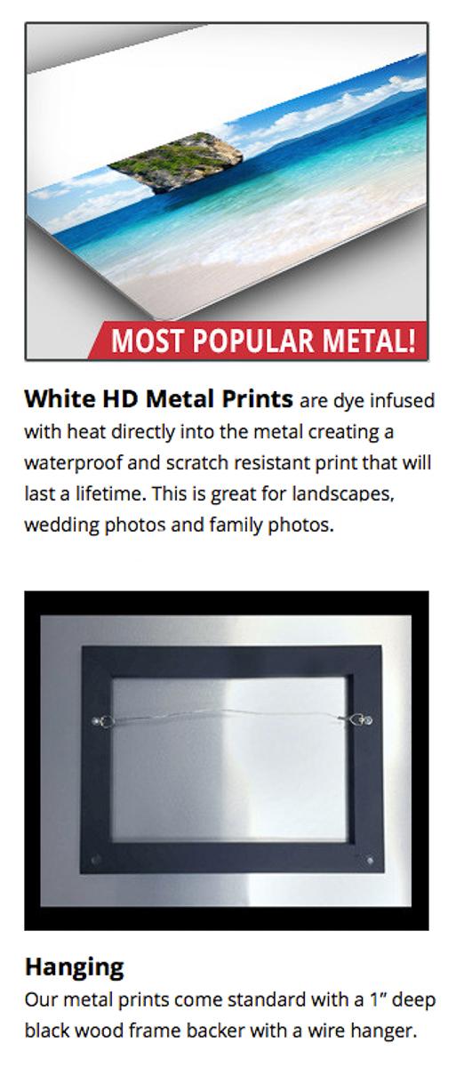 White HD Metal