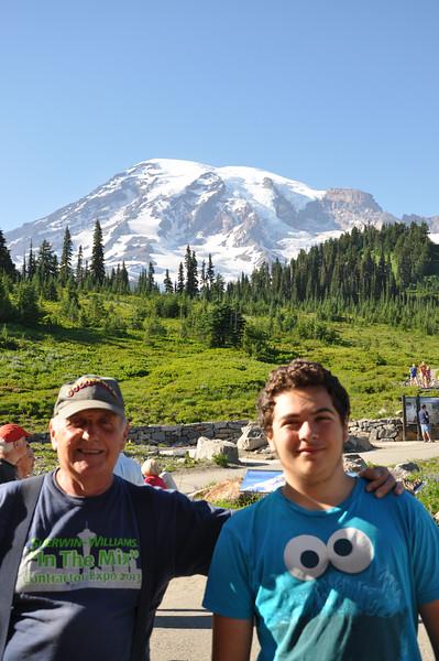 2013/07 - Mr Rainier with Grandpa
