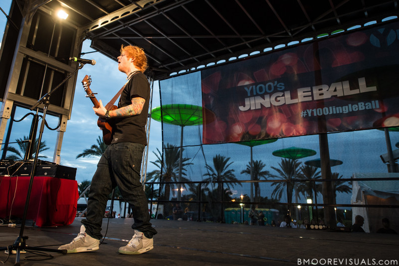 Ed Sheeran performs on December 8, 2012 during the Y100 Jingle Ball at BB&T Center in Sunrise, Florida