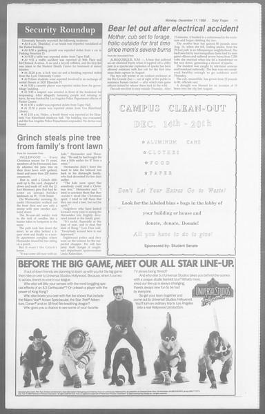 Daily Trojan, Vol. 110, No. 66, December 11, 1989