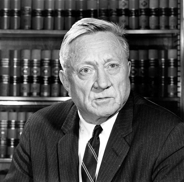. Associate U.S. Supreme Court Justice William O. Douglas is shown in his office at the court building in Washigton, D.C., March 27, 1963.  (AP Photo)