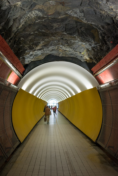 Light at the end of the tunnel, Stockholm, June 2015