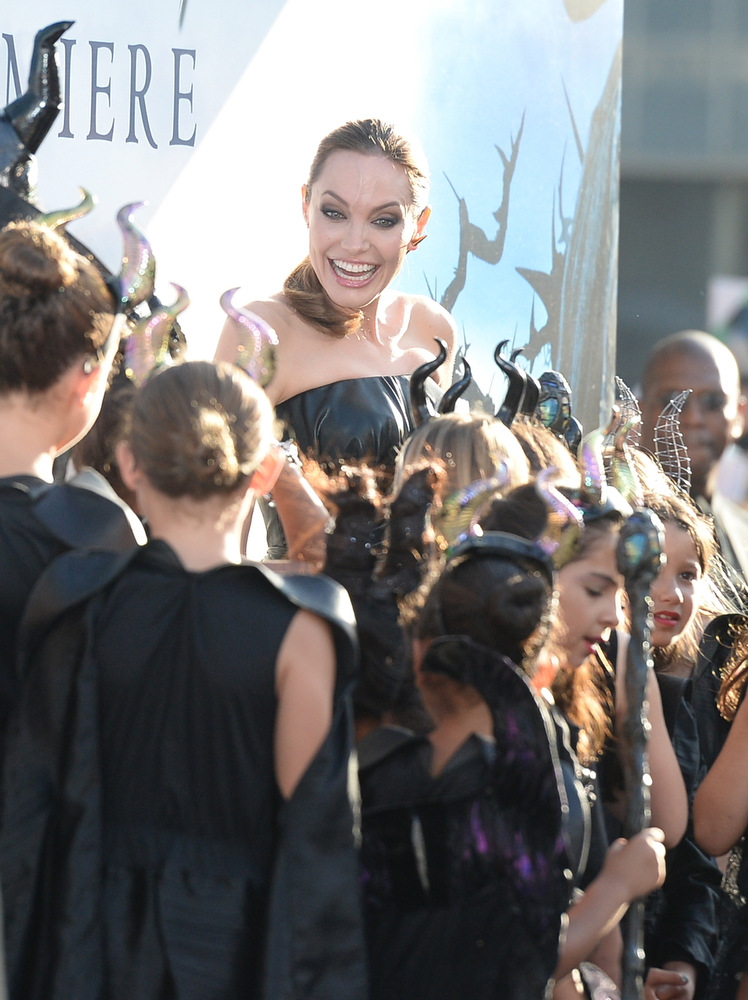 . Actress Angelina Jolie attends the World Premiere of Disney\'s \'Maleficent\' at the El Capitan Theatre on May 28, 2014 in Hollywood, California.  (Photo by Jason Merritt/Getty Images)