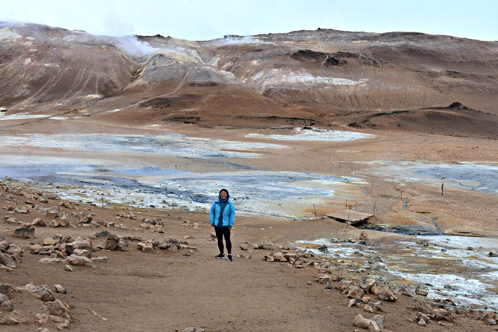 Geothermal Area of Hveraröndor Hverir in Iceland