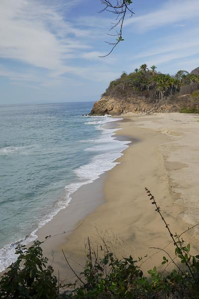 a mud beach in near San Pancho, Mexico
