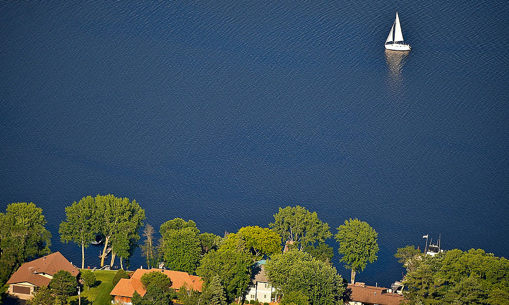 . A sailboat on the St. Croix. (Pioneer Press: Ben Garvin)