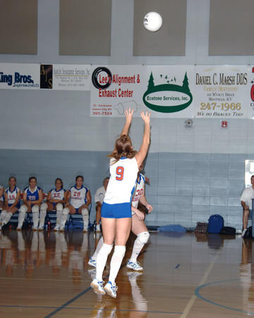 Marshall County Volleyball vs. Lone Oak  -  August 21, 2007  -  Lady Marshals win.