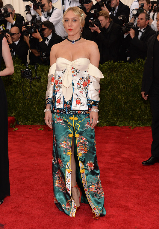 """. Chloe Sevigny arrives at The Metropolitan Museum of Art\'s Costume Institute benefit gala celebrating \""""China: Through the Looking Glass\"""" on Monday, May 4, 2015, in New York. (Photo by Evan Agostini/Invision/AP)"""