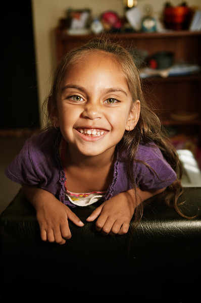 Aboriginal Australian Girl of Five Years smiling
