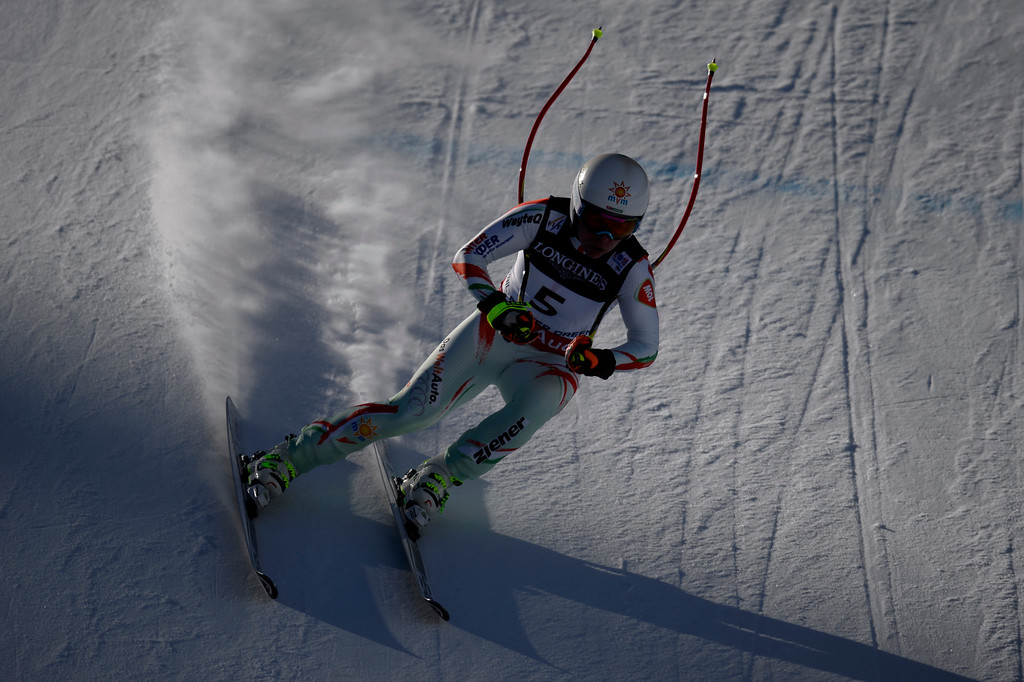 . BEAVER CREEK, CO - FEBRUARY 09: Edit Miklos of Hungary competes during the men\'s alpine combined final. FIS Alpine World Ski Championships 2015 on Monday, February 9, 2015. (Photo by AAron Ontiveroz/The Denver Post)
