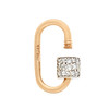 Marla Aaron Stoned Lock for Jewels by Grace Exclusive, Yellow Gold 1