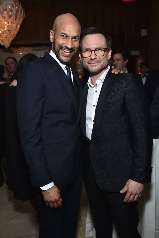 . Keegan-Michael Key (L) and Christian Slater attend The 75th Annual Peabody Awards Ceremony at Cipriani Wall Street on May 21, 2016 in New York City.  (Photo by Mike Coppola/Getty Images for Peabody Awards)