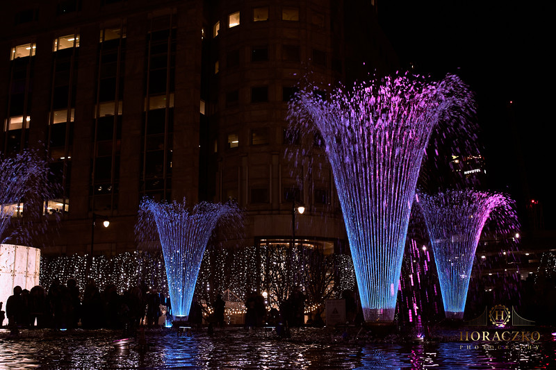 Winter Lights Festival Canary Wharf;