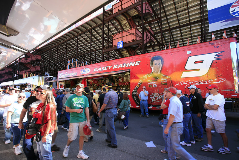 The merchandising trailer for Enumclaw, WA native, Kasey Kahne