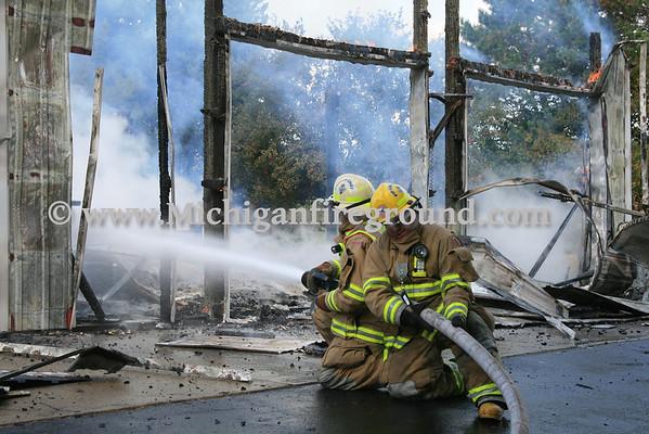 9/24/13 - Windsor Twp barn fire, 11477 Wilbur Hwy
