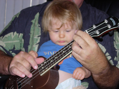 Dad & Jackson Playing the Uke