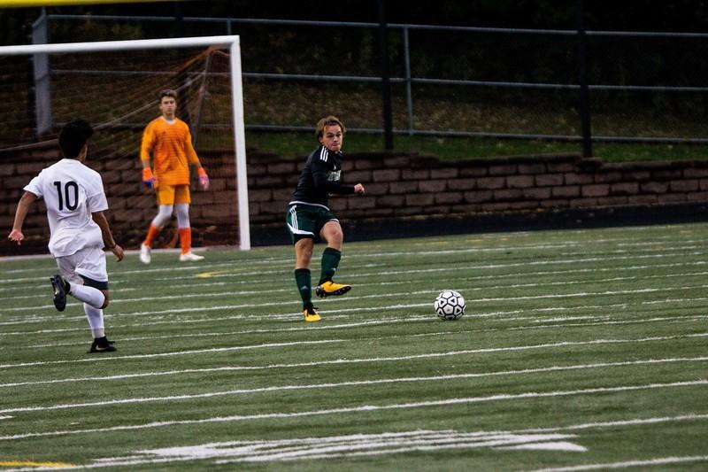 Holy Family Varsity Soccer vs. Monticello Oct 11, 2018: Sawyer Schugel '19 (3)