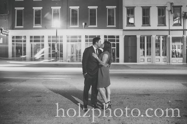 Ashton & Nick B/W Engagement Photos