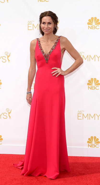 . Minnie Driver on the red carpet at the 66th Primetime Emmy Awards show at the Nokia Theatre in Los Angeles, California on Monday August 25, 2014. (Photo by John McCoy / Los Angeles Daily News)
