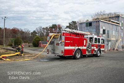 11-23-2015, Live Burn Drill, Vineland Fire Dept. Cumberland County Fire Training Center