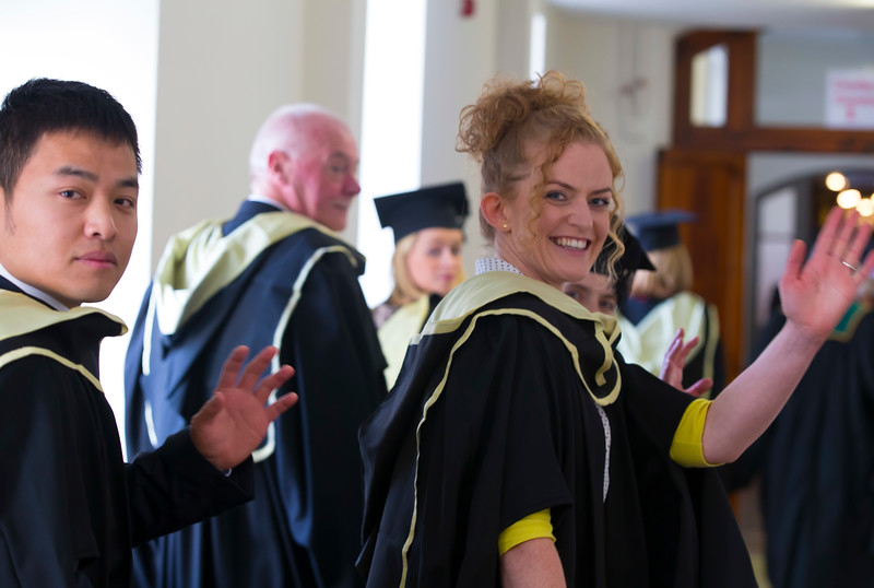 02/11/2016. Waterford Institute of Technology (WIT) Conferring Ceremonies November 2016.  Pictured is Aishling O'Toole from Carlow who graduated with an MA in Teaching and Learning in Further and Higher Education with her graduation gift Unicorn Slippers. Picture: Patrick Browne