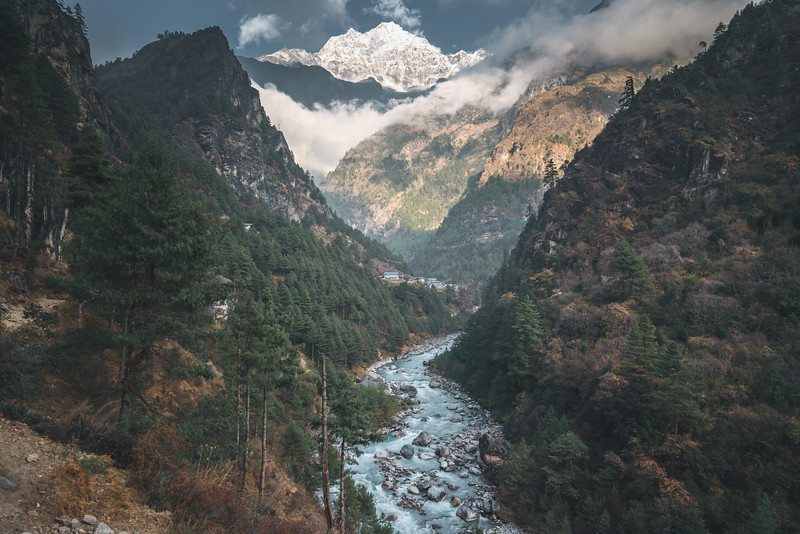 Hiking up into the Khumbu Valley, Nepal